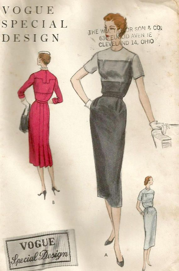 Vintage 50s Vogue Special Design 4586 UNCUT Misses Sheath