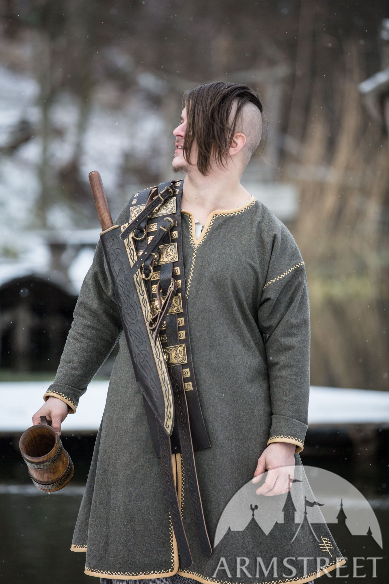 Viking Decorative Seax With Scabbard Olegg The Mercenary