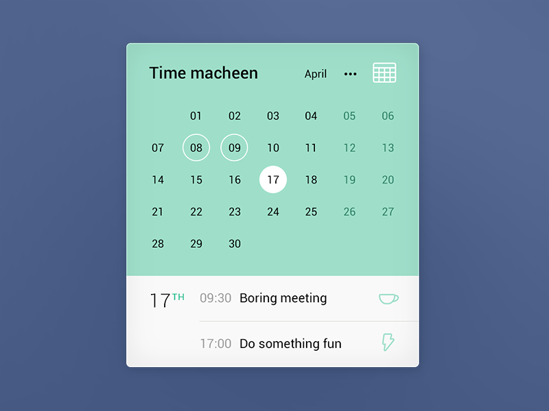 Calendar Booking Ui : Calendar ui component components and ux