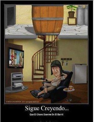 Y Creian Que El Chavo Dormia En Un Barril Funny Caricatures Cartoon Design Mexican