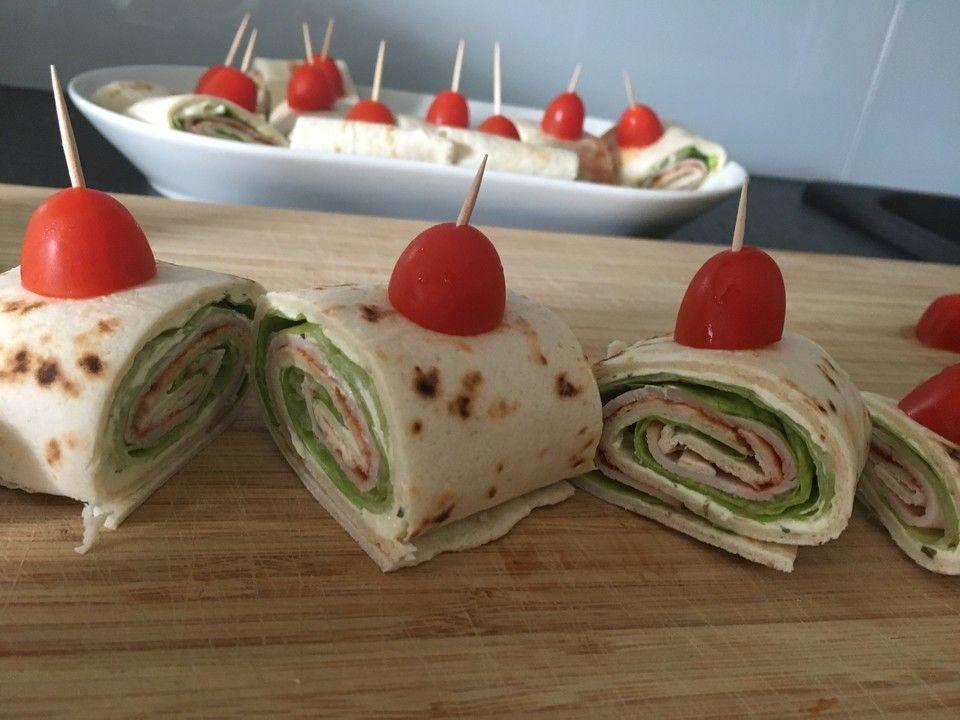 Party Wraps mit Frischkäse und Putenbrust 2 #brunchideen
