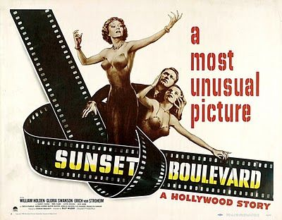 Sunset Boulevard (1950) / Director: Billy Wilder / A hack screenwriter writes a screenplay for a former silent-film star who has faded into Hollywood obscurity.