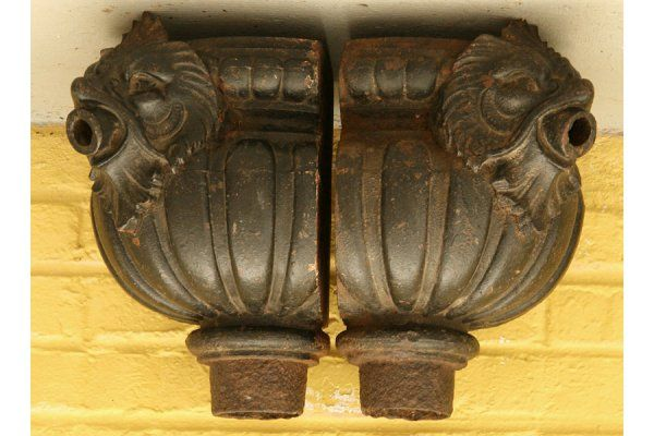 38 English Cast Iron Serpent Antique Downspouts On