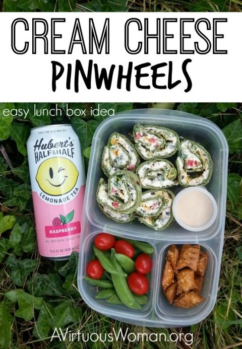 Cream Cheese Pinwheels are super easy to make, taste delicious and are perfect for the lunch box, as an appetizer, or even for a picnic! #easylunchbox #easyrecipes