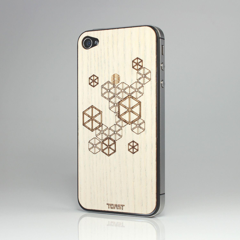 Hexagonal Pattern White Ash phone case! $20