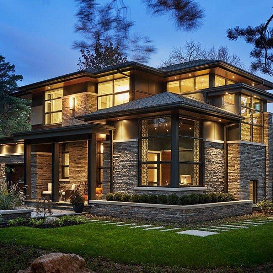 48 Inspiring Modern House Design For A New Home 42 Contemporary House Design House Designs Exterior House Exterior