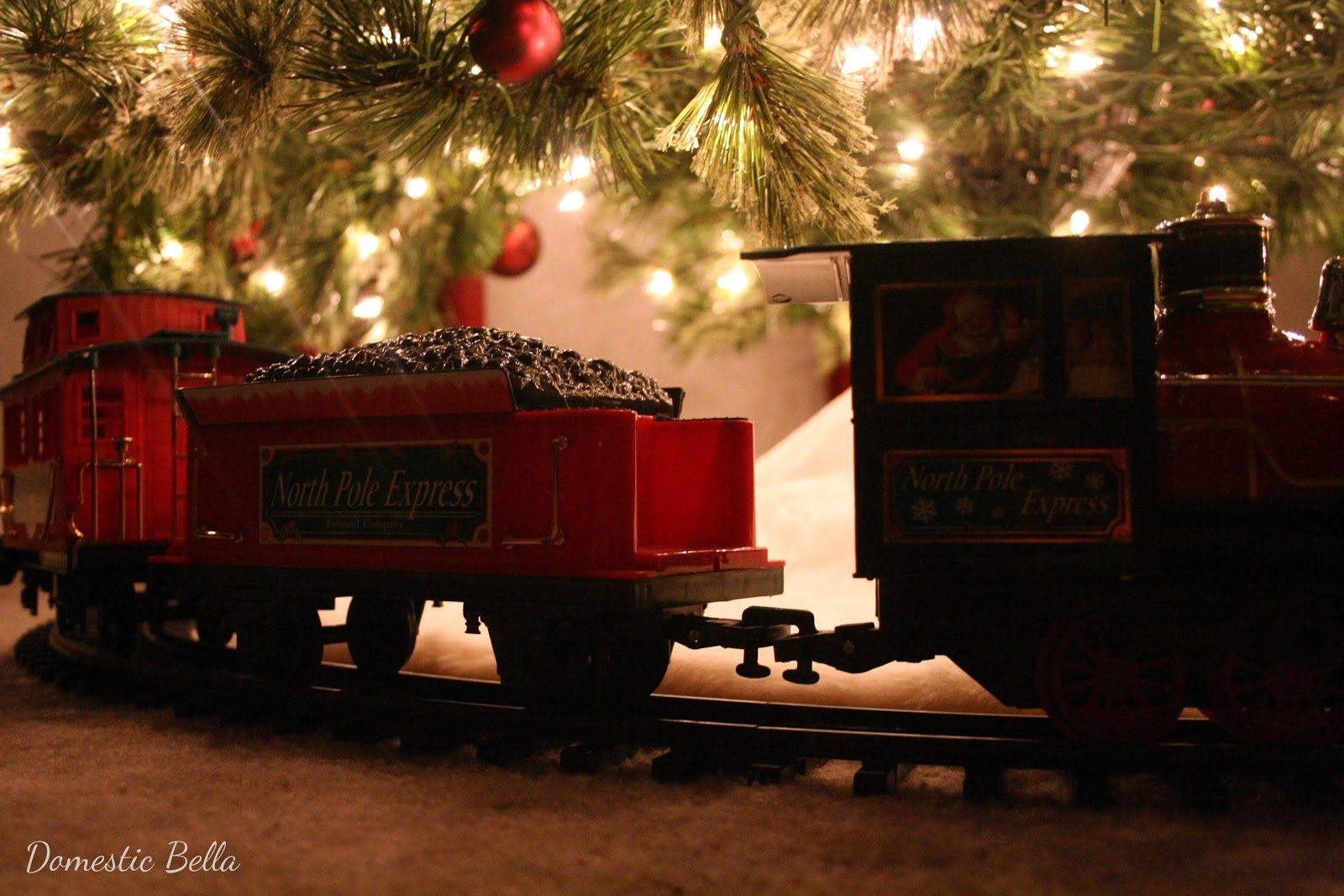 Christmas tree train north pole express christmas decorating