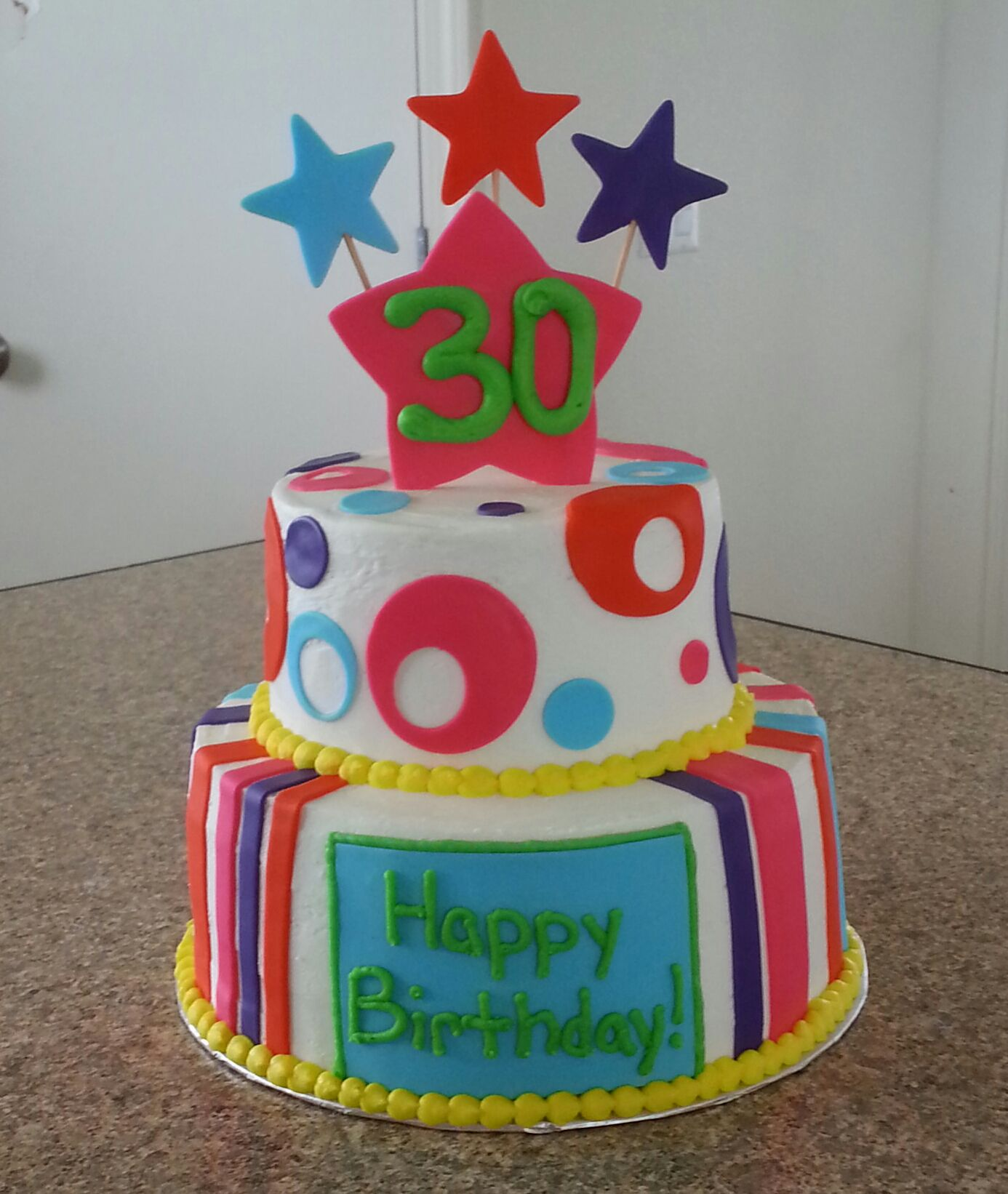 30th Birthday Cake I Did This Really I Did Pinterest
