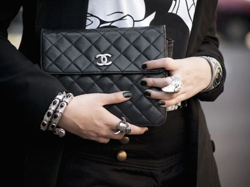 Black nails and Chanel