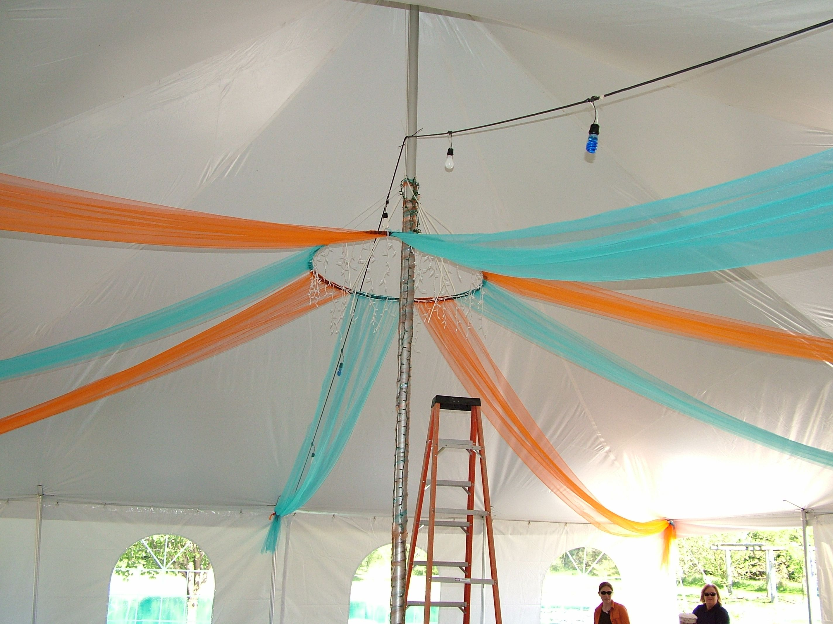 Tent decoration start with a hula hoop suspending from for Hula hoop decorations