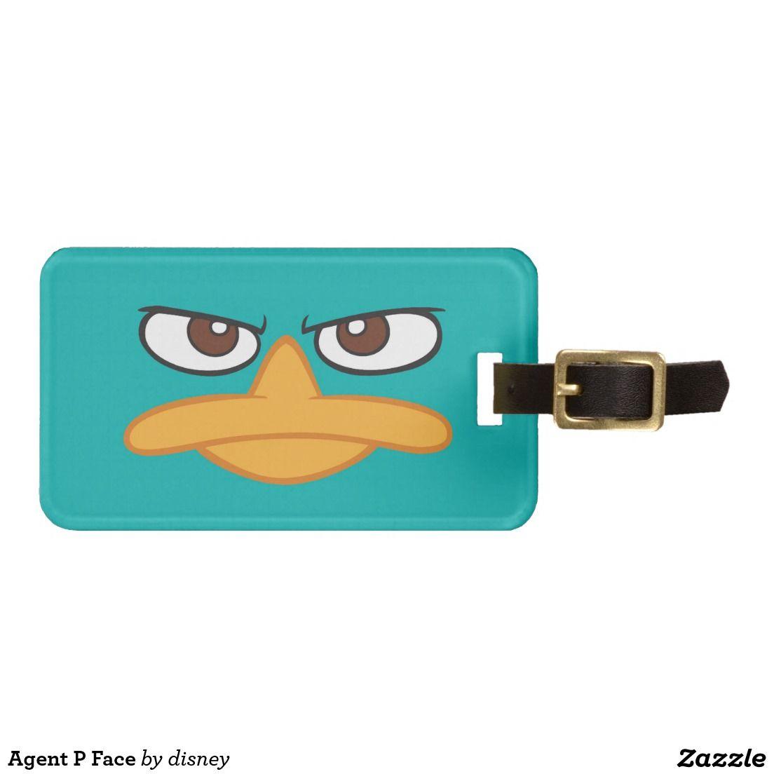 Agent P Face Luggage Tag