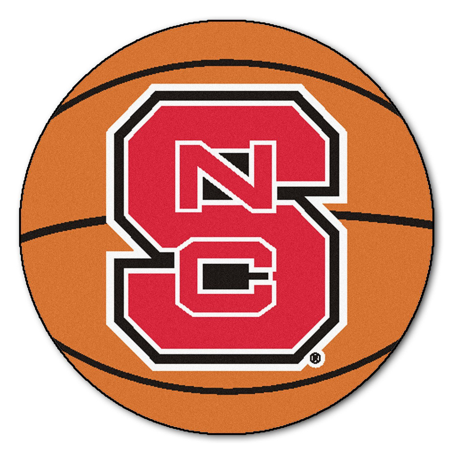 Fanmats collegiate 27 in basketball mat nc state