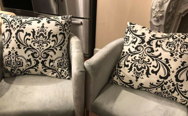 Details About Set Of 2 Black White Decorative Throw Pillows In 2020 Decorative Throw Pillows Pillows Throw Pillows