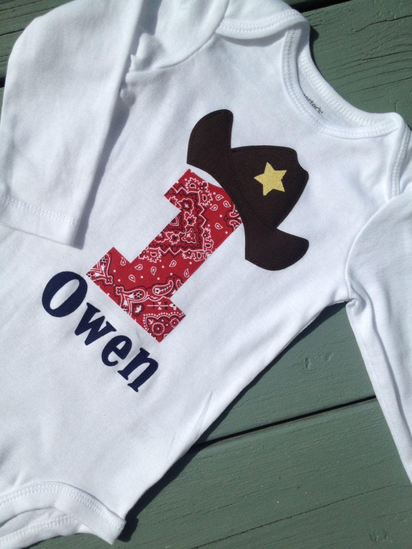 15c308b7b Cowboy, Baby Boy's First Birthday Onesie Shirt, 1st Birthday. $23.00, via  Etsy.