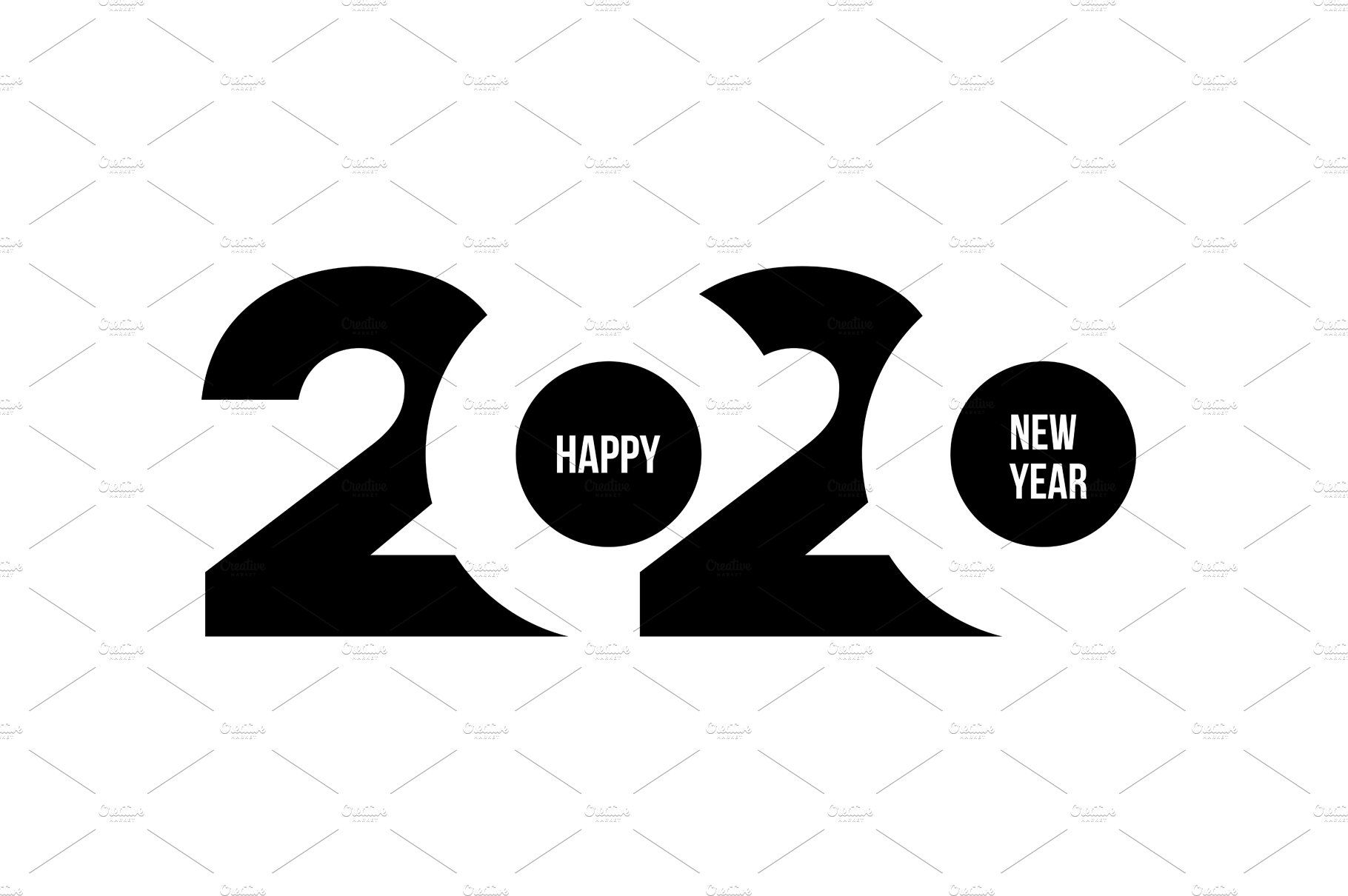 Happy New Year 2020 Text Design Grapic Design Brochure Design Template Happy New Year 2020