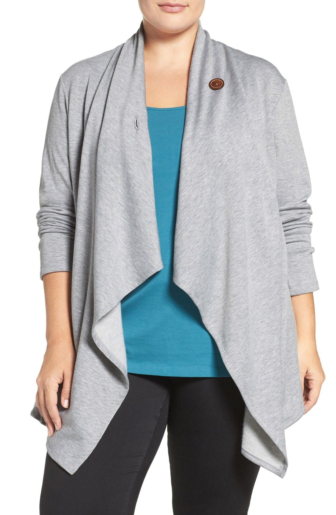 One-Button Fleece Cardigan | Bobeau, Frees and The necks