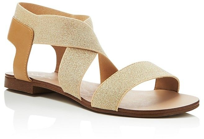 058cb8c5b53c0 Splendid Cassandra Metallic Crisscross Flat Sandals