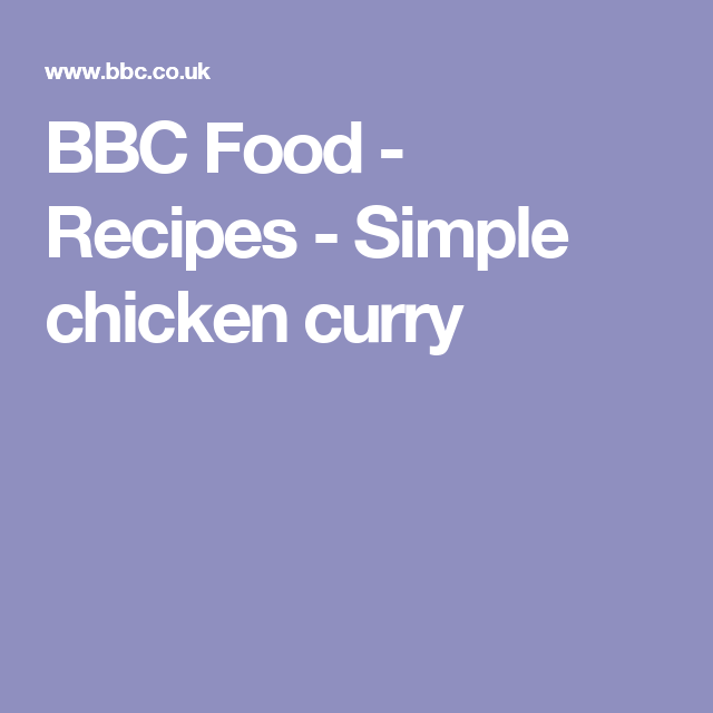 Simple chicken curry recipe chicken curry curry and rice forumfinder Images