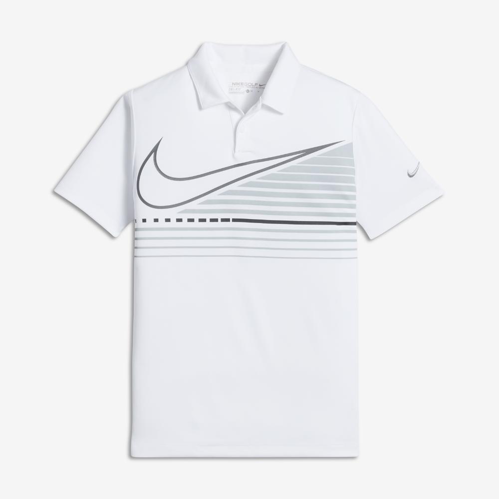 326d7398 Nike Victory Graphic Little Kids' (Boys') Golf Polo Shirt Size Medium  (White)