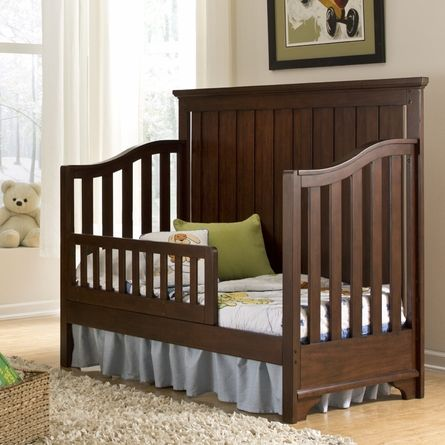 Classic Convertible Crib Turns Into Toddler Bed Decor