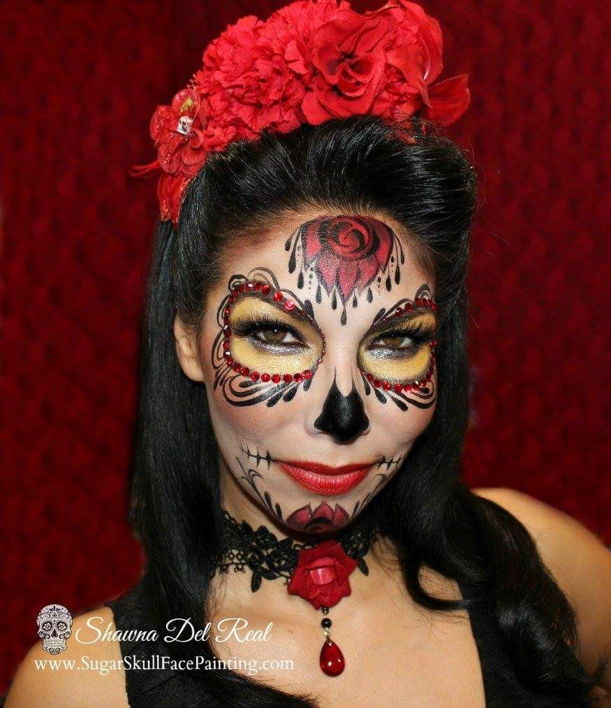 Shawna del Real/Makeup (With images) Sugar skull makeup