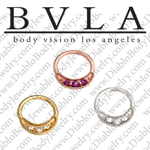 Bvla 14kt Gold Lacey Nose Nostril Septum Ring 20g Body Vision Los Angeles 36 0103 Bvla14ktlacey20g 204 99 Di Body Vision Los Angeles Body Jewelry Septum