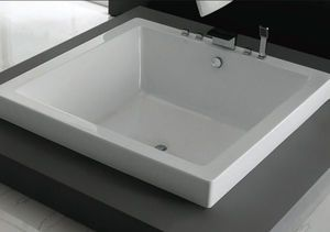 Image From Http Img Archiexpo Com Images Ae Photo M2 In Ground Bathtub Rectangular Quartzite 4 Seater 63984 8198622 Jpg With Images Square Bathtub Soaker Tub