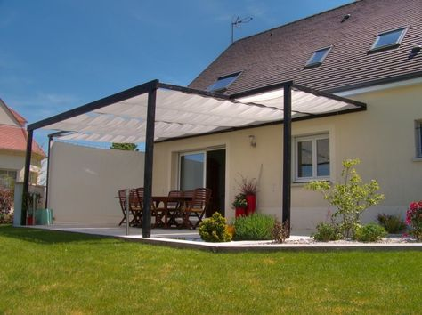 Toile du0027ombrage sur ma terrasse bois Pergolas and Exterior - prix d une terrasse en beton