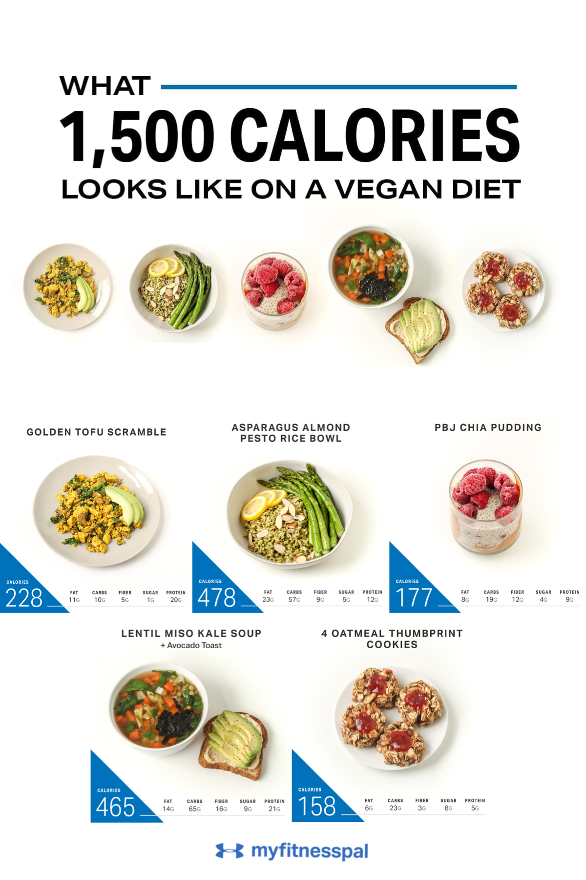 What 1 500 Calories Looks Like On A Vegan Diet Nutrition Myfitnesspal In 2020 1500 Calorie Meal Plan 500 Calorie Meal Plan Healthy Plant Based Recipes