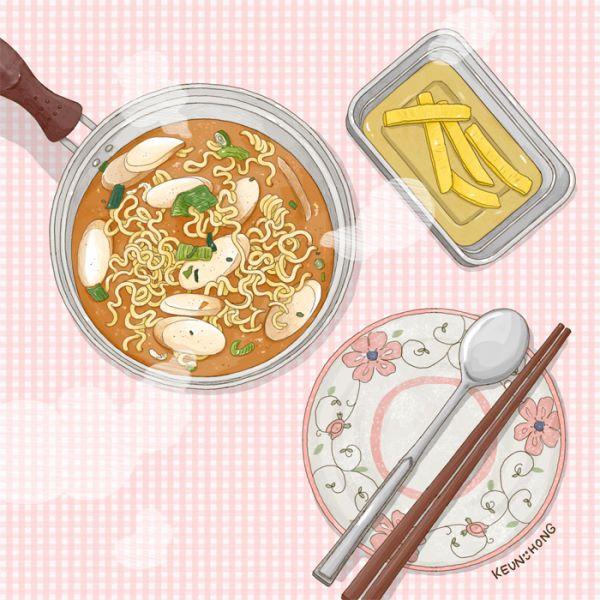 겨우내 먹었던 떡라면입니다:-)   ※ 당분간 먹는 즐거움 스토리픽 휴재에 들어갑니다.       더 맛있는 음식 그림들로 다시 시작하겠습니다:-)       빠르면 5월 중에 돌아오겠습니다! 감사합니다!   2016ⓒKEUN-HONG  http://gksdi33.blog.me http://instagram.com/keun_hong