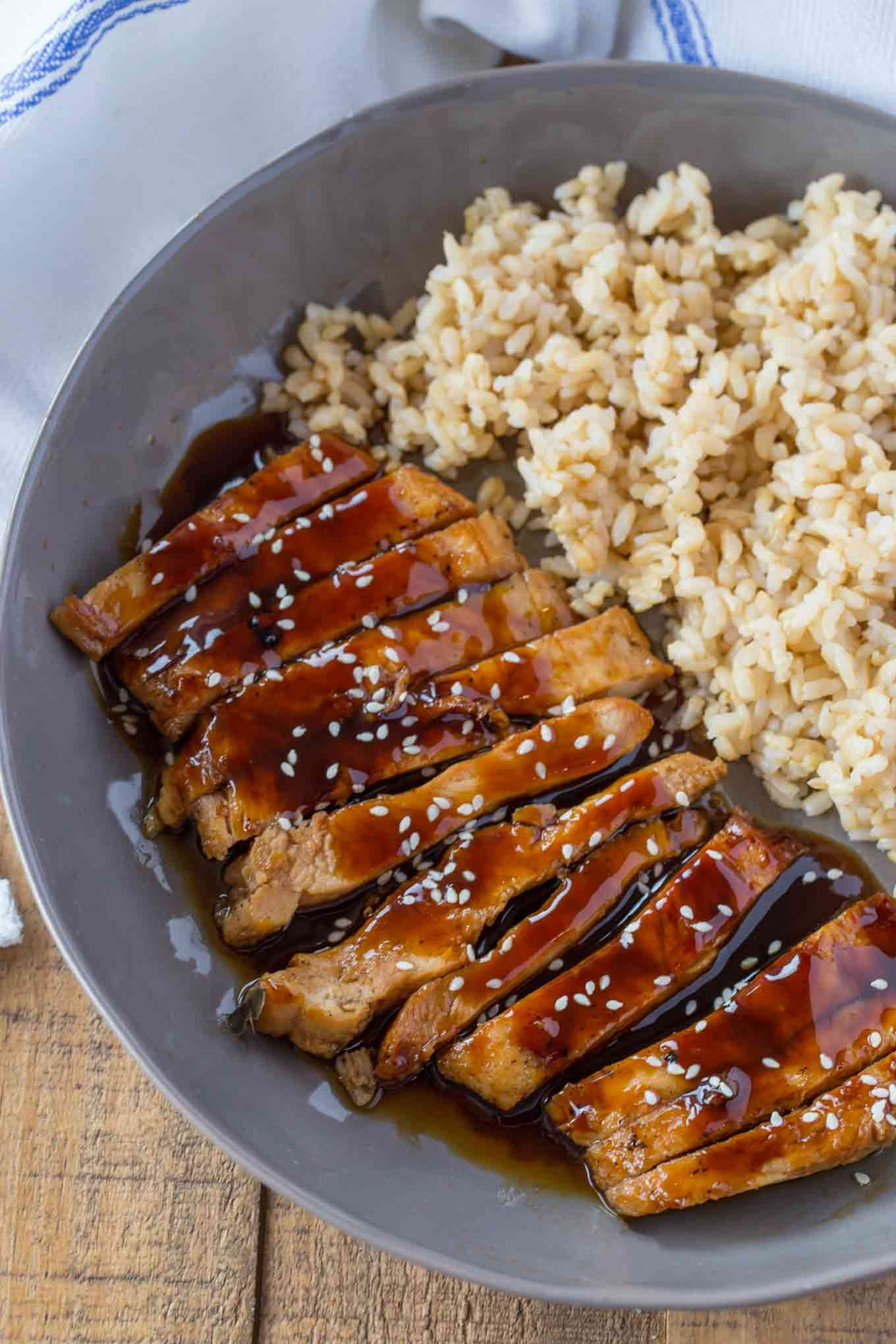 Skinny Teriyaki Chicken Made With A Quick And Easy Homemade Teriyaki Sauce In Less Than 30