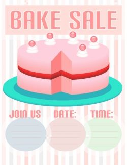 Free Bake Sale Flyer Templates Can Help You To Easily Create An