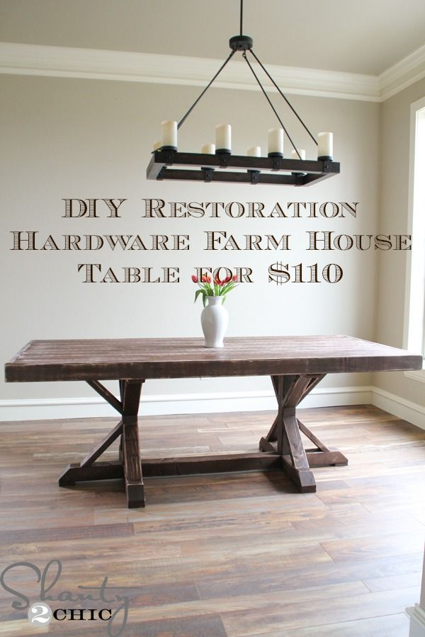Great Restoration Hardware Inspired Dining Table For $110   Shanty 2 Chic. Farm  House ... Amazing Design
