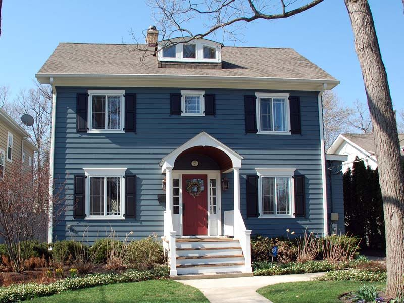 Best James Hardie Evening Blue Colonial Exterior Colonial 640 x 480