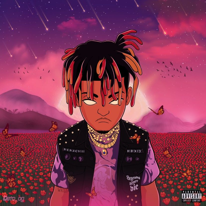 Legends Never Die By Juice Wrld In 2020 Cover Art Anime Wallpaper Space