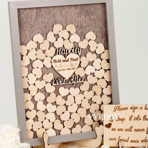 Wedding Guest Signature Ideas: Alternative Wedding Guest Book Wood Sign Rustic Wedding