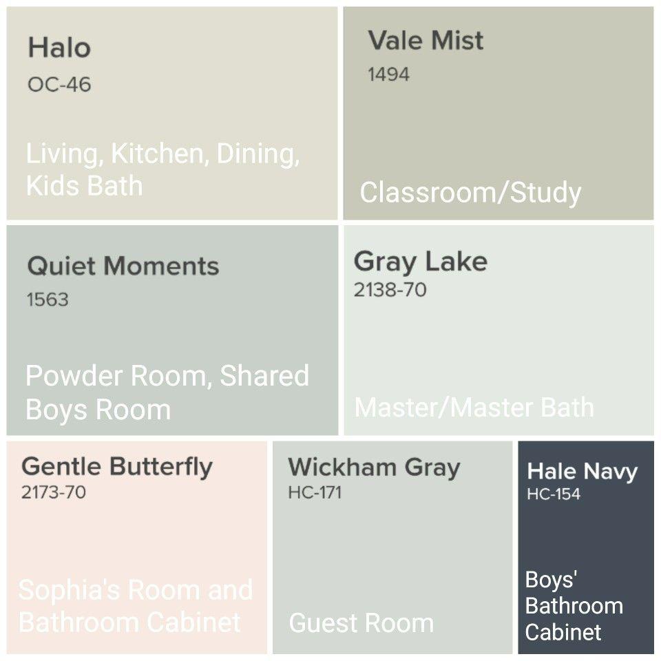 Whole House Paint Scheme Benjamin Moore Neutral Paint House Color Palettes House Color Schemes House Color Schemes Interior