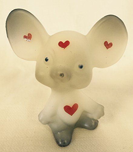 Fenton Art Glass Valentine's Day Mouse Gray with Red Hearts *American Made* Rosso Glass http://www.amazon.com/dp/B00RXZG4ZK/ref=cm_sw_r_pi_dp_pWtywb1P77HZP