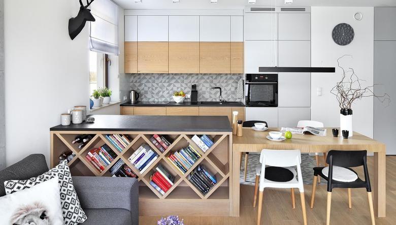 Miejsce Na Przepisy I Ksiazki Kucharskie Small Apartment Interior Kitchen Interior Kitchen Design Small