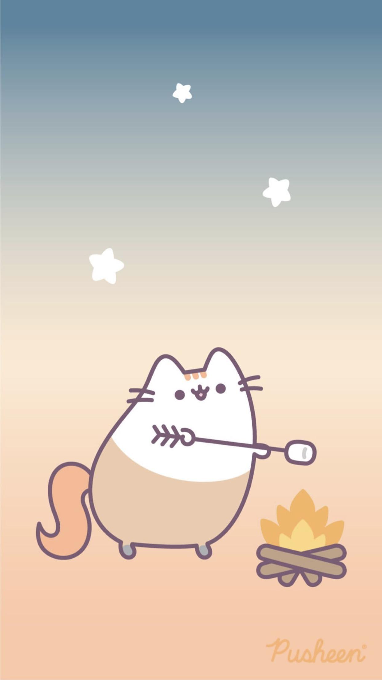 Iphone Wallpaper Pusheen Cat Sagittarius Cat Phone Wallpaper Pusheen Cute Iphone Wallpaper Cat