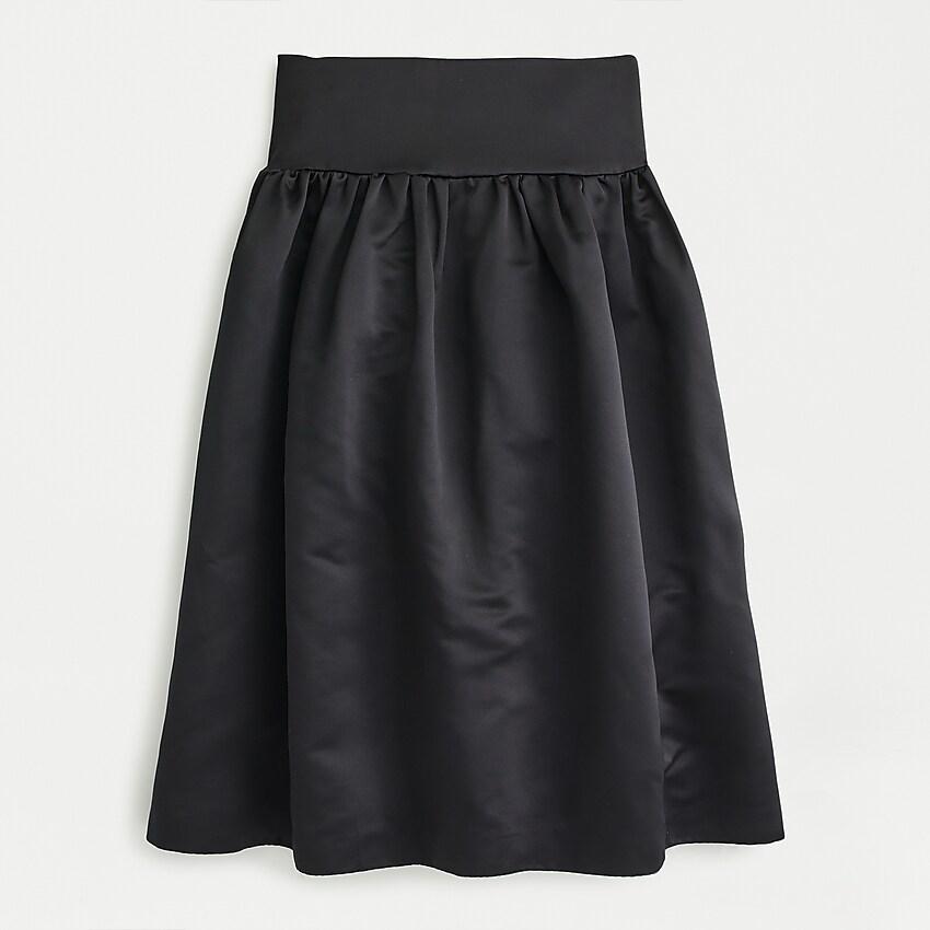 J.Crew: A-line Midi Skirt In Duchess Satin #duchesssatin