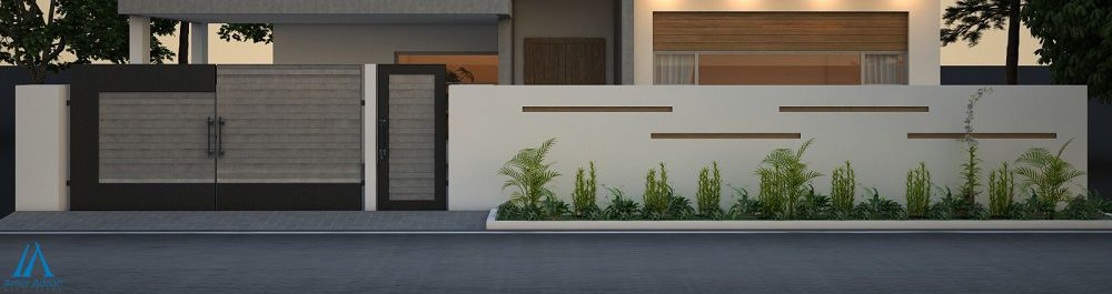 Latest Boundary Wall 3d Design By Amer Adnan Associates 3d