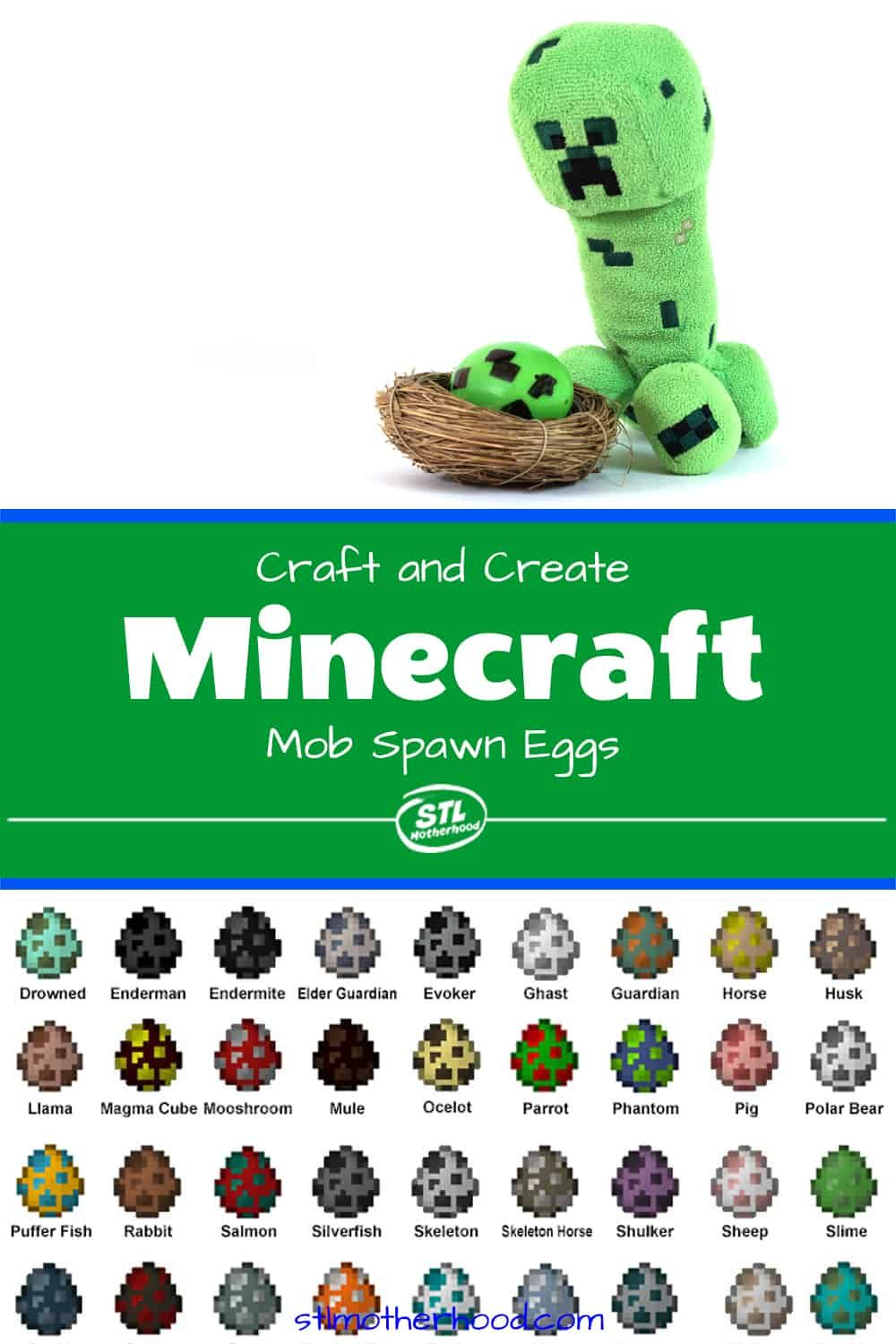 How To Decorate Minecraft Easter Eggs With Mob Chart Minecraft Easter Eggs Kid Friendly Diy Crafts Easter Eggs