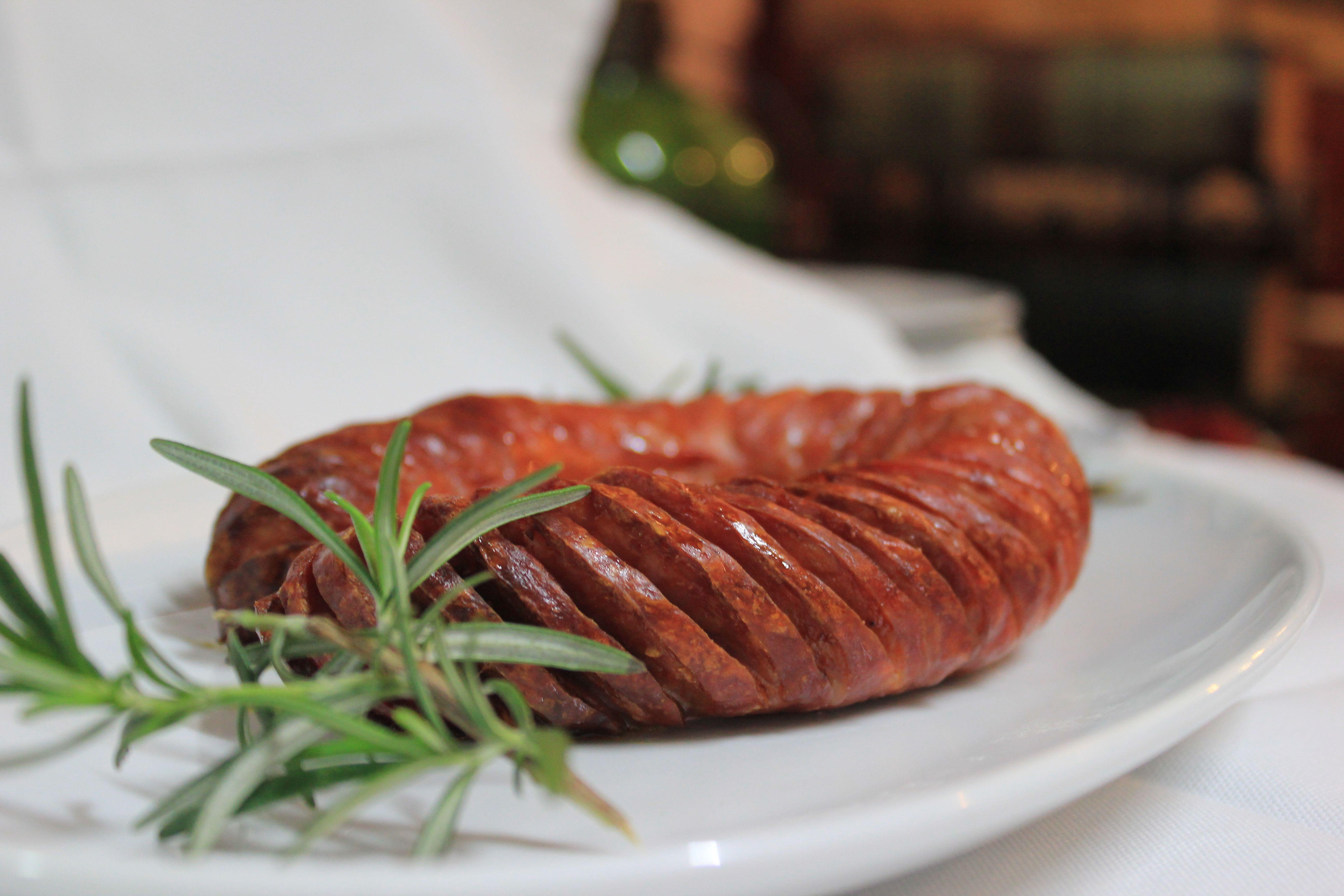 Chourico Assado Roasted Stuffed Sausage
