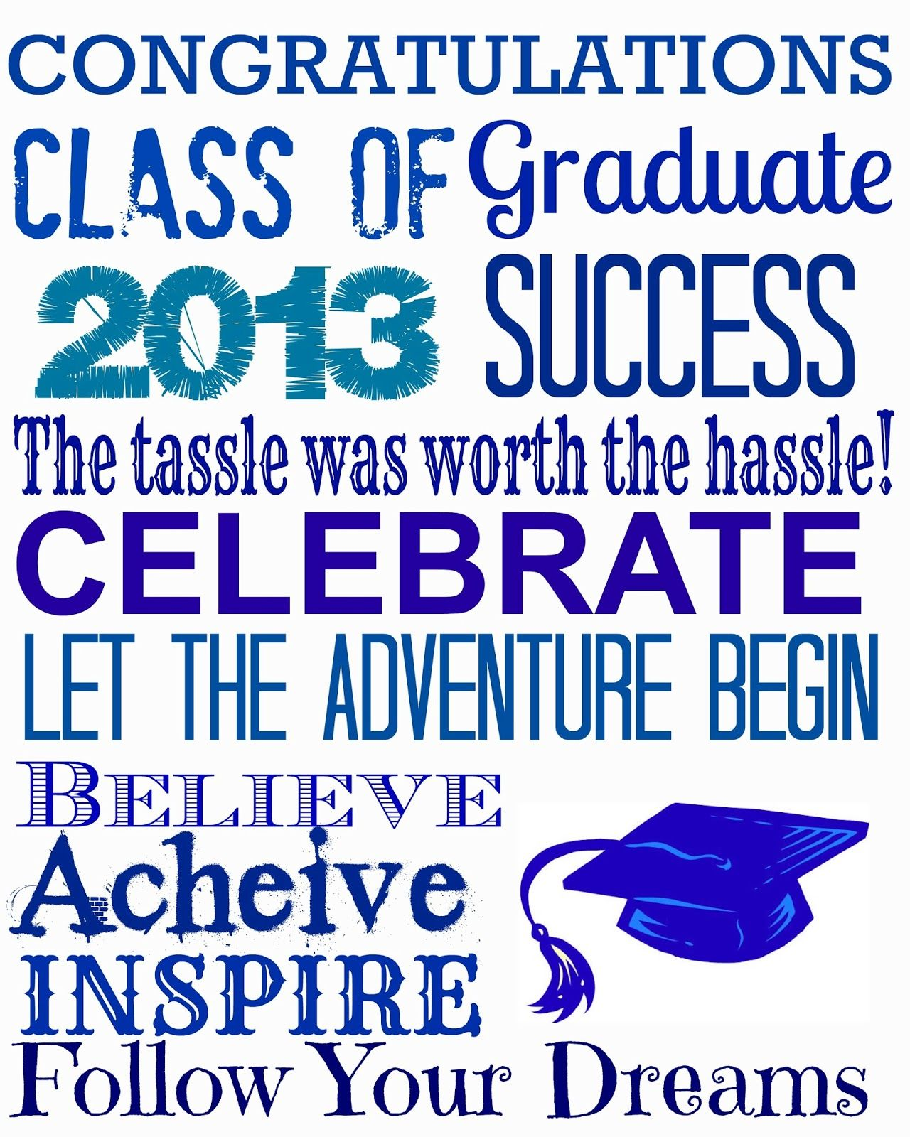 Outstanding Free Graduation Printables In 3 Colors Graduation Download Free Architecture Designs Scobabritishbridgeorg