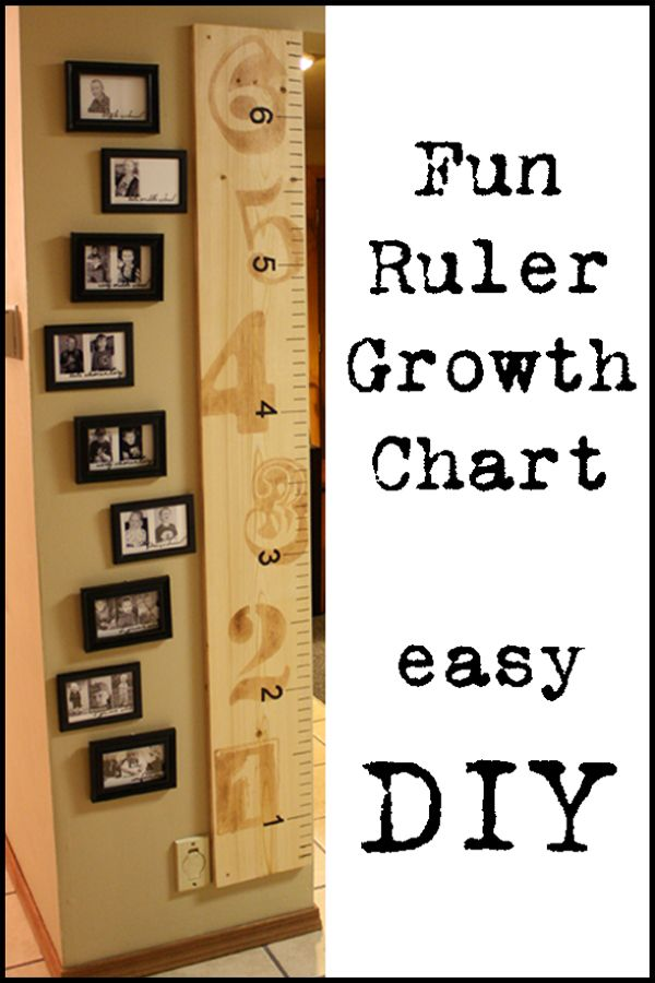 Ruler Growth Chart..will get to use this with my grand children one day..very cool idea