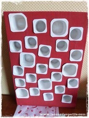 Bricolage de Noël : le calendrier de l'Avent avec des pots de yaourts |La cour des petits