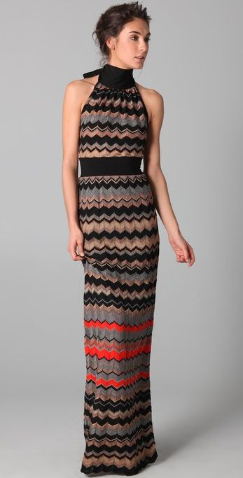 84cd1dd2170c0f M Missoni Zigzag Metallic Stripe Maxi Dress