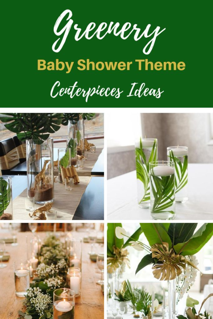 Greenery Baby Shower Centerpieces For A Gender Neutral Baby Shower Vcdiy Decor And More Baby Shower Centerpieces Girl Baby Shower Centerpieces Baby Shower Theme Decorations