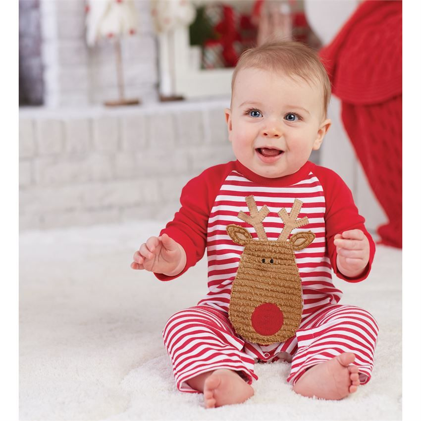 Mud Pie Reindeer One Piece Shop First Christmas Outfits